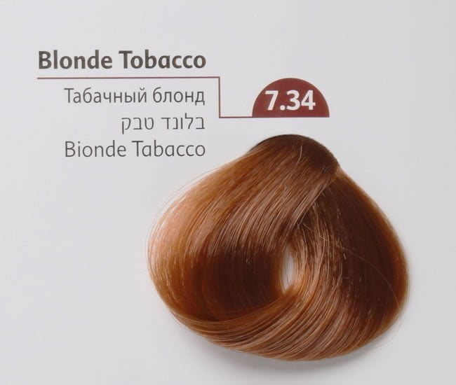 Buy Mon Platin Colour 7.34 blonde tobacco 100ml Online - Jojoba